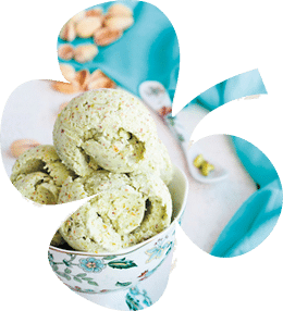 Homemade pistachio ice cream