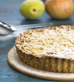 Зимен плодов пай с ябълки, круши и орехи